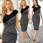 Womens Black Formal Party Wear To Work Business Cocktail Sheath Bodycon Dress