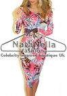 Womans Celebrity Summer Holiday Party Bodycon Midi Dress ♥ !