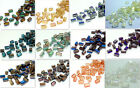 72pcs Rectangular crystal glass LOOSE BEADS 8MM U choose color