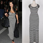 Celebrate Striped Ladies Sleeveless Party Evening Tunic Cocktail Bodycon Dresses