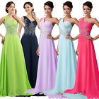 Sexy 1 Shoulder Floor Length Evening Ball Gowns Party Prom Bridesmaid Club Dress