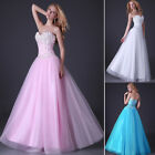 Beads Corset Long Bridesmaid Formal Gowns Ball Party Cocktail Evening Prom Dress