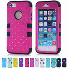 Hard Skins Fashion Soft Silicone Hybrid Phone Cover Case For Apple Iphone 5 5S