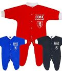 Me & Dad LOVE ENGLAND Sleepsuit Babygrow Jumpsuit Girls Boys Baby Clothes