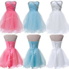 Strapless TUTU Party Mini Evening Bridesmaid Graduation Short Prom Dress 4Colors