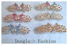 Hair Barrette Butterfly Diamante Crystal Clip Clasp Slide Bridal Proms BS19