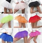 Ladies 4 Layer Black White Red Neon Petticoat Festival Tutu Skirt Fancy Dress