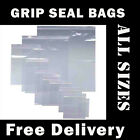 Grip Seal Bags Clear Resealable Polythene Poly Plastic Zip Lock Bags *ALL SIZES*