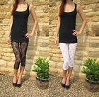 LACE Leggings Black White & Cream Shop Price 3/4 Length £18 6-24