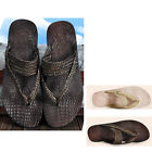 US5-9 HOT Woven Leather Casual Summer Flip-Flops Beach Sandal mens slipper shoes