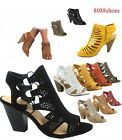 Women's Fashion Summer Sexy Open Toe Chunky Heel Sandals Shoes Size 5.5 - 11 NEW