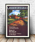 Ruislip : Old Travel Poster reproduction