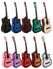NEW CUTAWAY  Acoustic Guitar+GIGBAG+STRAP+TUNER+LESSON