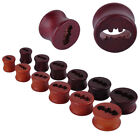 1pc Hollow Bat Pattern Wood Ear Tunnel Plug Gauge Expender 10-20mm