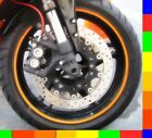 Reflective Motorcycle Rim Tape Bike Wheel Stickers Decals Vinyl Set 17 inch 17""
