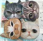 FD533 Vintage Cute Cat Zipper Case Coin Purse Wallet Makeup Buggy Bag Pouch 1pc/