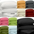 """2pc Pillow Cases in Euro Size 26""""x26"""" Queen 20""""x30"""" King 26""""x36"""" Hotel UK Colors"""