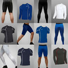 Men's Compression Tight Shirts Base Layer Fitness Gym Workout Shorts Pants M-XXL