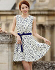 Women summer Chiffon Casual Floral Slim party Cocktail Prom Dress Sleeveless