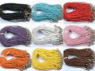 wholesa 10pcs Leather Adjustable Braided Necklace Charms Finding String Cord 3MM