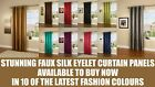 """NEW STYLISH FAUX SILK SINGLE CURTAIN PANEL 66"""" X 90"""" WITH STEEL RING TOP EYELET"""
