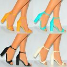 LIZARD PRINT STRAPPY SANDALS ANKLE STRAP CUFF BLOCK HEEL PEEP TOES HIGH HEELS
