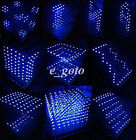 3D LED LightSquared DIY Kit 8x8x8 3mm LED Cube White LED Blue/Red/Green/Yellow