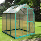4 Sizes Greenhouse Aluminium PolyCarbonate Base Green UV Clip-less Twin Wall