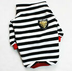 NEW Beautiful Pet Dog Animal Shirt Cotton Stripe Clothes Apparel Costume T-Shirt