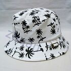 White Unisex Bucket Hat Boonie Hunting Fishing Outdoor Cap Men's Summer Sun Hats