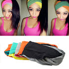 Stylish Candy Color Sports New Yoga Hair Ribbon Wide Headband Wrap Head Turban