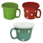 Savinio Designs Oven to Table Stoneware 16oz Soup Crock Mug with Lid in 3 Colors