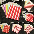 25X Honeycomb Wedding Birthday Sweet Favour Popcorn Treat Gift Paper Party Bags