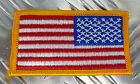 Genuine US Army Military Iron-on American Flag Right Shoulder (Reversed) - NEW