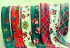 "CHRISTMAS BIAS BINDING X 3 METRES COTTON 25mm (1"") SANTA TEDDIES TARTAN"