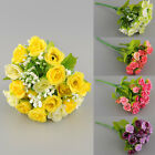 21pcs Artificial Rose Flower Silk Flower Arrangement Home Room Decoration