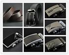 Business Men Auto Buckle Leather Belt Waistband Buckle Genuine Leather Belt -LJ
