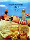 small beach home - 5204.Bacard.esquisitame.woman on beach.small bottle.POSTER.decor Home Office art
