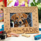 Personalized Dog Memorial Picture Frame Dog in Heaven Engraved Wood Photo Frame