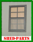 SHED WINDOW PLAYHOUSE BARN OUTDOOR BUILDING BUILD SMALL GLASS 14X21 BROWN