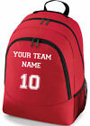 PERSONALISED SPORTS FOOTBALL HOCKEY TEAM NAME SCHOOL COLLEGE SPORTS BAG BACKPACK