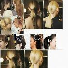 1xNew Synthetic BUSC Fiber PonyTail Women Hair Bun Hairpiece Extension Scrunchie