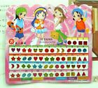 FD553 Kid Girl Crystal Stick Earring Sticker Toy Body Bag Party Jewellry ~60pcs/