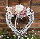 FLORAL HEART WREATH, Bedroom, Wedding hanger ~ 6 BEAUTIFUL DESIGNS
