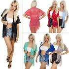 New Womens Ladies Lace Kimono Batwing Open Summer Tassel Cardigan Size S M L XL