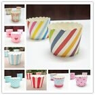 50pc / set  Vogue Cake Baking Paper Cup Cupcake Muffin Cases Cups Home Party LJ