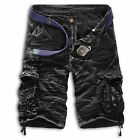Hot new casual camouflage cargo shorts multi-pocket trousers large size men
