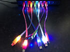 """8"""" LED light charger cable FOR apple iPhone X 8 7 6 4 5 MICRO USB galaxy s6 s7+"""