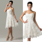 Lace Elegant Bridesmaid satin sexy Wedding party prom ball evening formal Dress