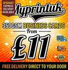 Business Cards Printed On 350gsm Premium Silk ~ Full Colour ~ FROM £11